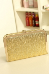 Pretty Girls minimalism Metallic Mini Clutch Bag