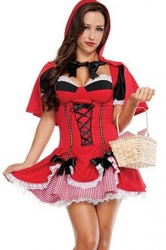 Red Sexy Ladies Little Red Riding Hood Fairytale Costume