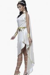 White Sexy Goddess Fancy Dress Folk Costume
