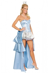 Blue Cinderella Princess Sexy Halloween Costume