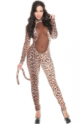 Coffee Sexy Womens Funny Animal Halloween Leopard Costume