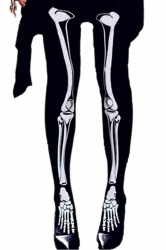 Black Horror Ladies Skeleton Halloween Tight