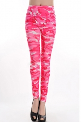 Pink Beautiful Womens Camouflage Printed Fit Designer Leggings