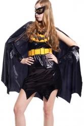 Cool Female Batman Costume with Cloak