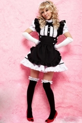 Black and White Cute Girls Maid Halloween Costume