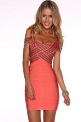 Weave Illusion Top Sexy Bandage Dress