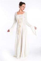 White Renaissance Princess Medieval Elegant Halloween Costume