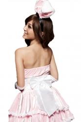 Pink Cute Women Velvet Bunny Halloween Costume