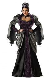 Black Chic Womens Renaissance Halloween Evil Queen Costume