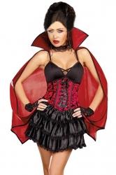 Black Sexy Ladies Dead Dreamy Halloween Vampire Costume