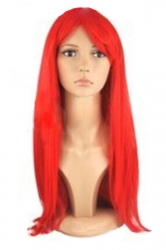 Red Cosplay Classic Womens Straight Hair Wig