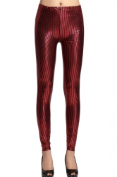 Ruby Elegant Ladies Stripe Printed Striped Leggings
