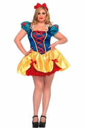 Blue Ladies Fairy Tale Snow White Sexy Costume