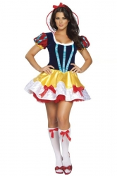 Blue Elegant Ladies Halloween Cosplay Snow White Fairytale Costume