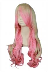 Pink Cute Ladies Air Curl Macross Sheryl Queen Long Hair