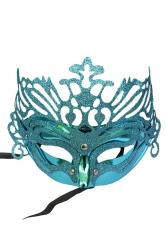 Bue Halloween Glitter Covered Half Face Mask