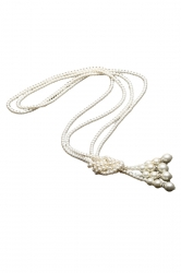 White Beautiful Womens Pearl Long Sweater Chain