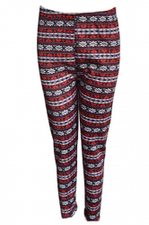 Ruby Ladies Snowflake Pattern Christmas Lined Sweater Leggings