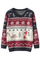 Little Red Riding Hood Snowflake Jumper Ugly Christmas Sweater