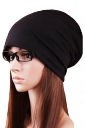 Black Trendy Ladies Plain Cool Hip-pop Hat Cap Hat