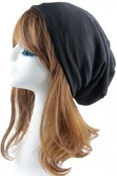 Black Trendy Ladies Plain Pleated Hip-pop Cap Hat