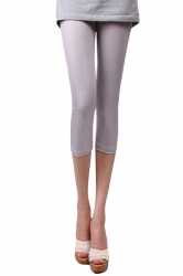 Gray Faux Snake Skin Sexy Womens Capri Leggings