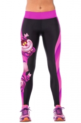 Black Cartoon Figure Printed Sport Leggings