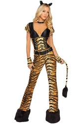 Brown Cosplay Sexy Womens Tiger Halloween Costume