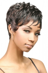 Black Attractive Cosplay Womens Short Hair Wig