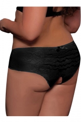 Black Sexy Womens Lace Cut Out Panty