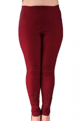 Ruby Plus Size Plain Elastic Leggings
