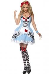 Blue Adult Poker Style Fairytale Costume