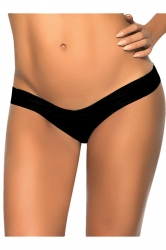 Black V Shape Plain Sexy Chic Womens Swimsuit Bottom