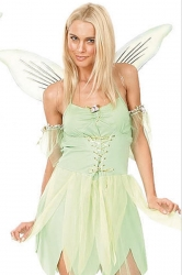 Womens Sexy Fairy Costume Green
