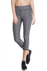 Womens Seamless Splicing Elastic Ankle-length Sport Leggings Dark Gray