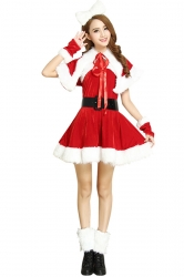 Womens Sexy Santa Claus Christmas Party Costume Red