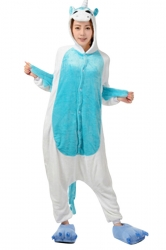 Womens Hooded Unicorn Pajamas Onesies Animal Costume Blue