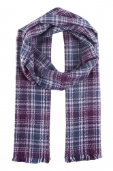 Womens Fashion Plaid Dual-Use Shawl and Scarf Purple