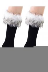 Womens Pretty Fuzzy Socks White