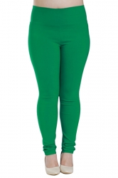 Womens Plus Size High Waisted Elastic Leggings Green