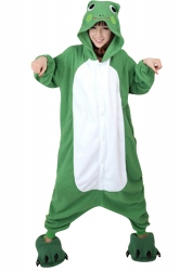 Womens Hooded Onesies Frog Pajamas Animal Costume Green