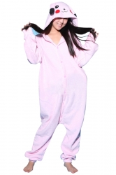 Womens Cute Warm Hooded Pikachu Pajamas Jumpsuit Costume Pink