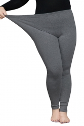 Womens Thick Plus Size High Elastic Ankle-length Leggings Dark Gray