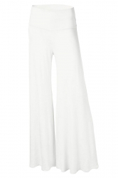 Womens Stylish Plain Wide Leg Palazzo Pants White