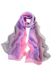 Womens Fashion Gradient Color Block Scarf Black