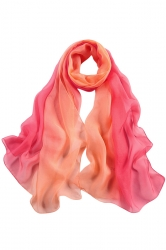 Womens Fashion Gradient Color Block Scarf Watermelon Red