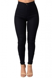 Womens Sexy Slimming Plain High Waist Leggings Black
