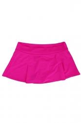 Womens High Waist Plain Skort Swimsuit Bottom Rose Red