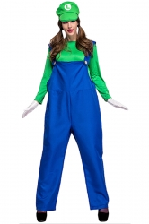Green and Blue Super Marie Mario Costume