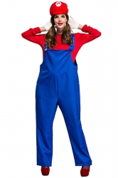 Red and Blue Super Marie Mario Costume